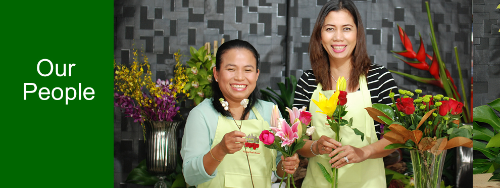 Angkor flowers-our people