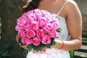 Aritficial pink bouquet