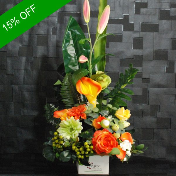 Artificial Flowers – Beautiful Arrangement for home decor or gifting-Angkorflower
