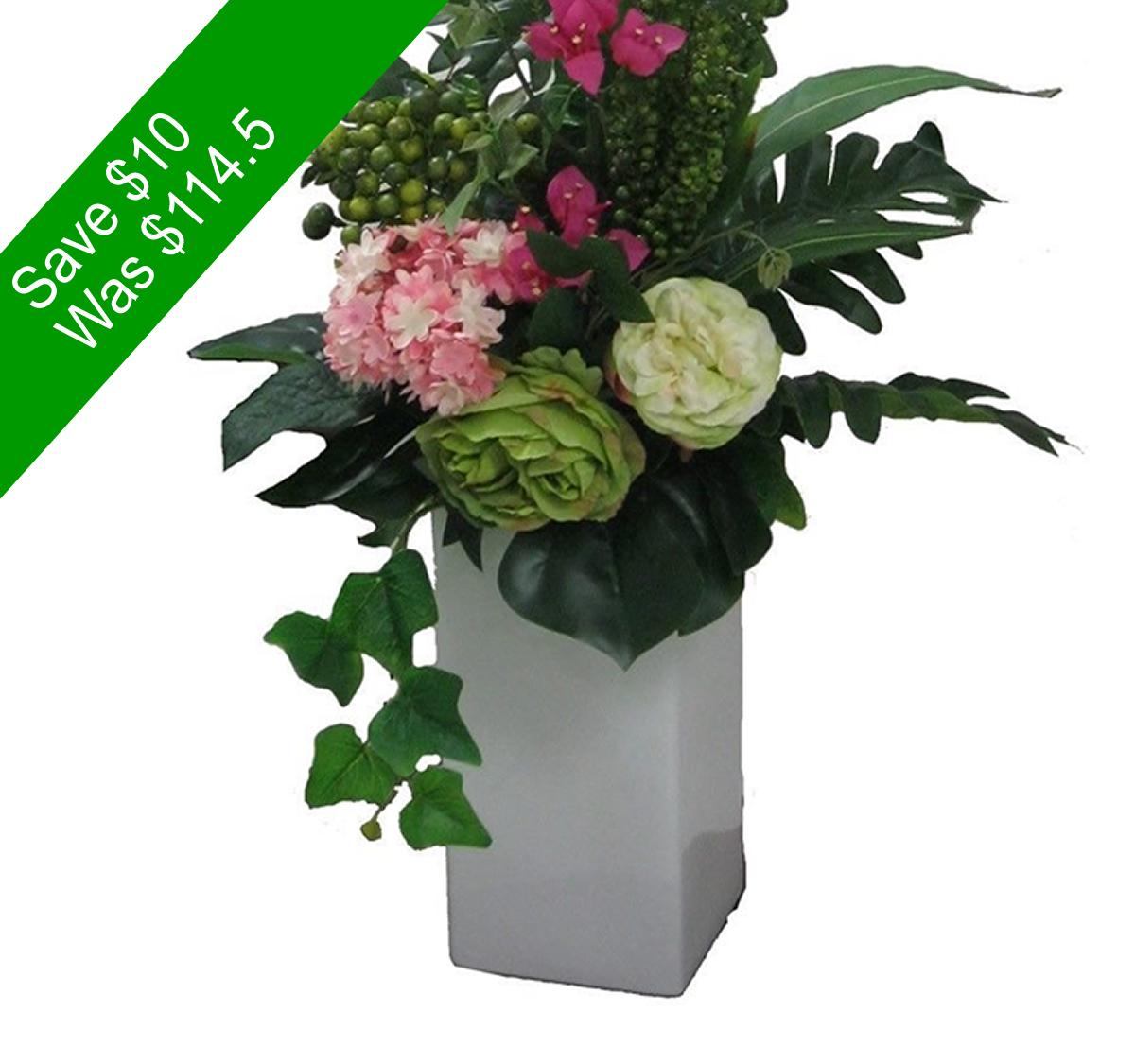 Artificial Vase Arrangement Angkor Flowers