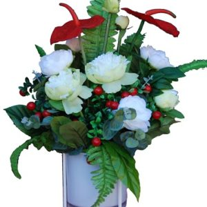 Artificial-Red & White Arrangement