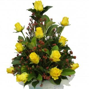 Beautiful yellow gift