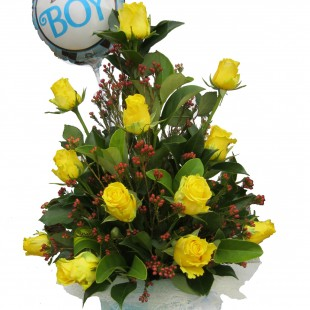 Beautiful yellow gift-babyboy