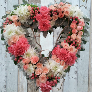 Funeral Flowers Wreath - Always Be in Pink - Angkorflowers