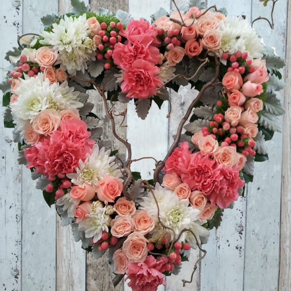 Funeral Flowers Wreath – Always Be in Pink – Angkorflowers