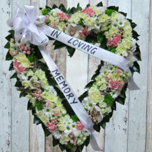 Funeral Flowers Wreath - Always Be in White - Angkorflowers