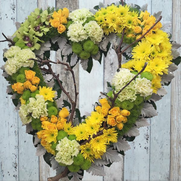 Funeral Flowers Wreath – Always Be in Yellow – Angkor Flowers