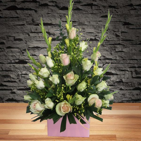 Kindness – White Rose Arrangement