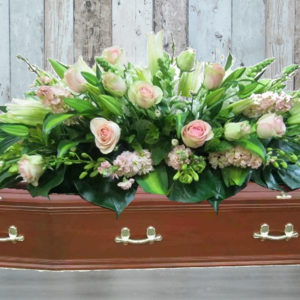 Praying Casket Flowers - Lovely gentle