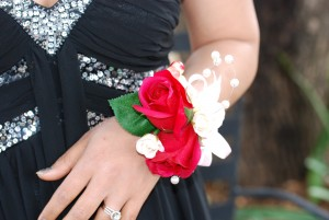 Wrist corsage-Red