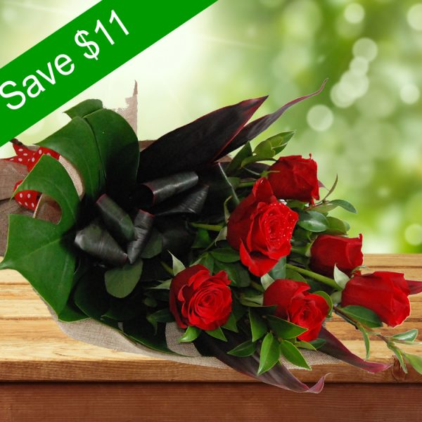 Adorable Bouquet- 6 Premium Red Roses