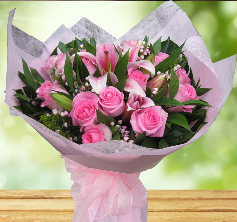 Wonderful Pink Bouquet B38 Angkor Flowers