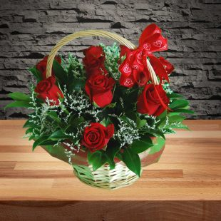Beautiful Roses Basket - Small