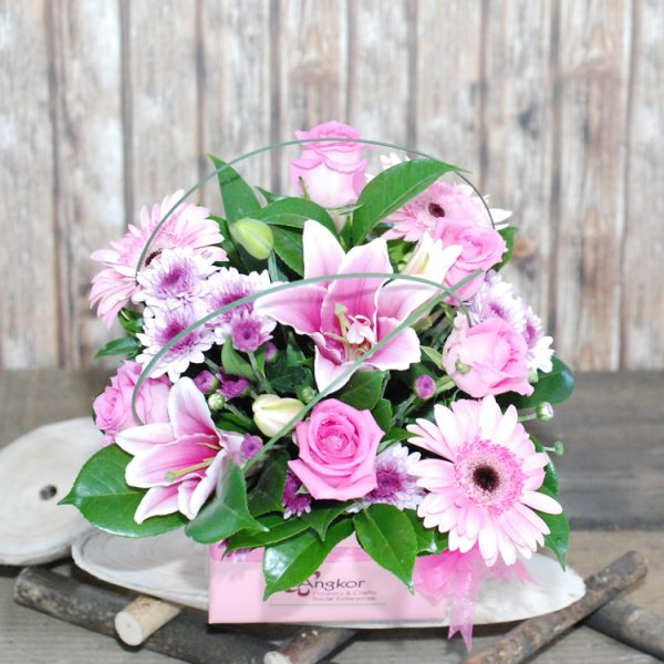 Beautiful – Pink Box Arrangement