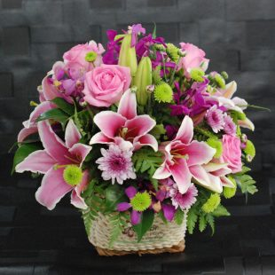 Blossom - Pink and Purple Arrangement