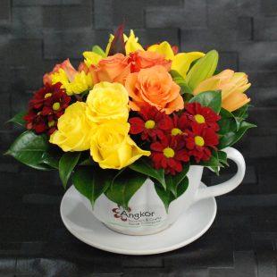 Golden - Tea Cup Arrangement