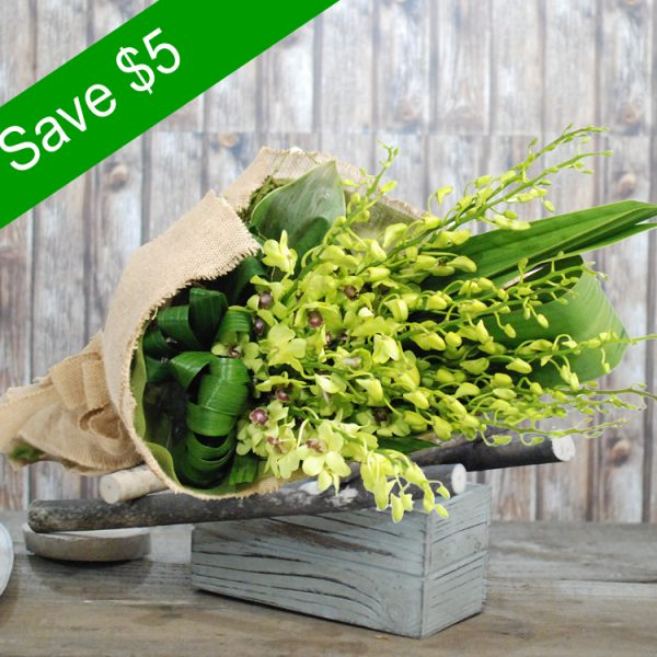 Greeny Applause-Orchid Bouquet-Main