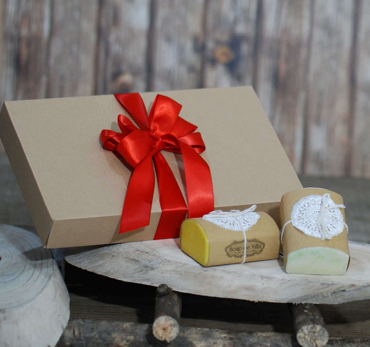 Handmade goat milk soap in gift box – Mango & Jasmine  fragrance
