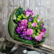 Magnificent- Pink Rose and Orchid Bouquet
