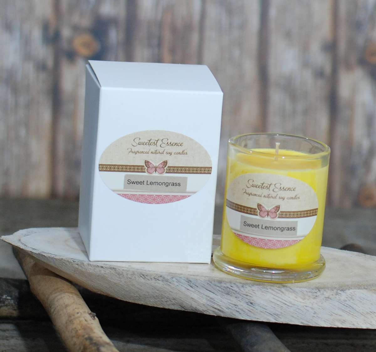 Soy Wax Candle- Lemongrass Yellow - Medium