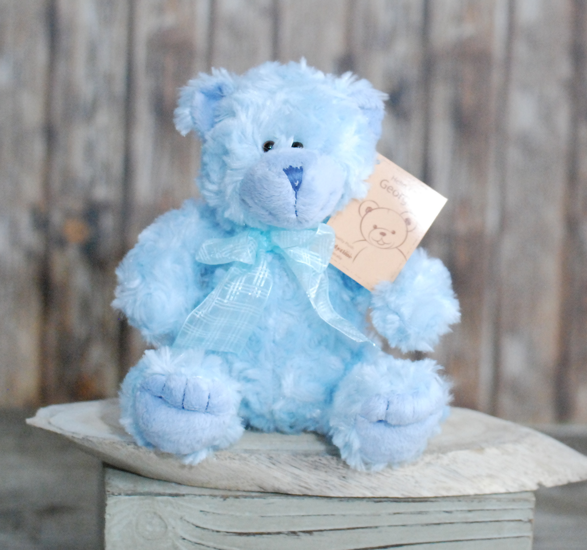 Blue teddy bear Medium – 25cm