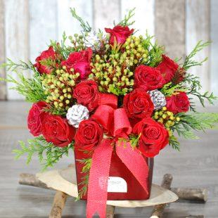 Christmas Flowers - Celebration Xmas- Red Arrangement