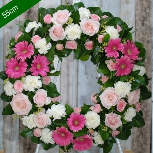 Funeral Flower Wreath- Be Comfort in Pink - angkor flowers