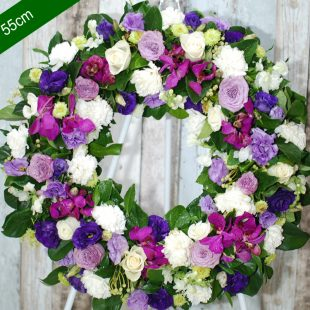 Funeral Flower Wreath- Be Comfort in Purple - angkor flowers