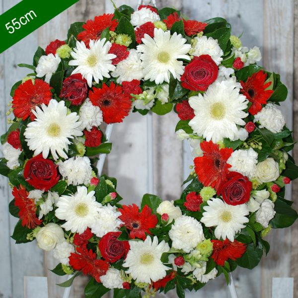 Funeral Flower Wreath- Be Comfort in Red – angkor flowers