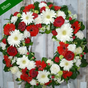 Funeral Flower Wreath- Be Comfort in Red - angkor flowers