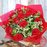 Valentine Flowers – My Gorgeous 2  – 12 Premium Red Roses Bouquet