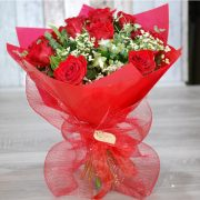 Valentine Flowers – My Gorgeous 3  – 12 Premium Red Roses Bouquet