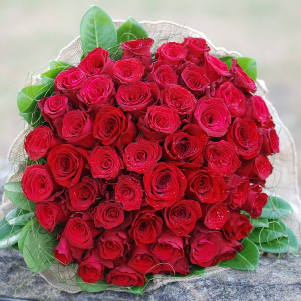 Spectacular 50 Red Rose Bouquet