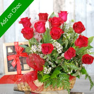 Valentine Flowers - Chocolate with Roses