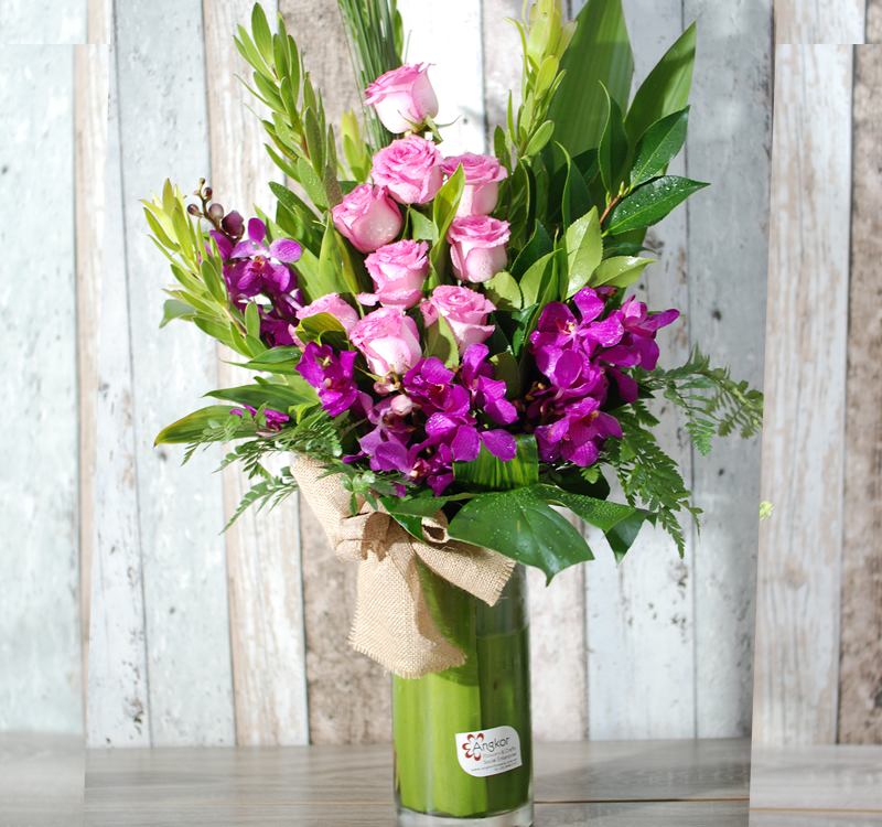 Cylinder Glass vase (vase only)