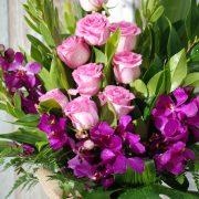 Beautiful and Elegant Pink Arrangement in Glass Vase2