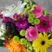 Stylish Hatbox Arrangement – Colourful- Premium2