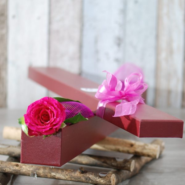 Exotic Rose Gift Box Pink – Single Stem