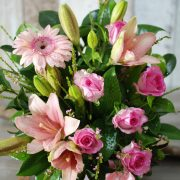 Pleasant Pink Arrangement in Hatbox2