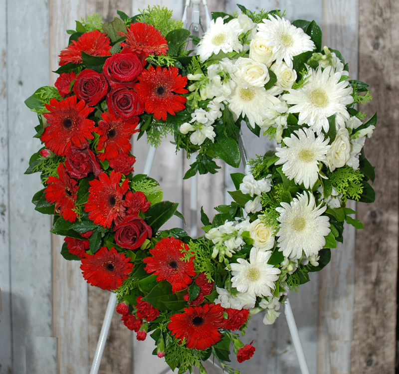 Funeral Flower Wreath Always Be Red And White Wh34r Angkor Flowers