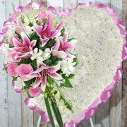 Funeral Flowers Heart – Praying in Pink – Angkor Flowers