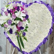 Funeral Flowers Heart – Praying in Purple – Angkor Flowers