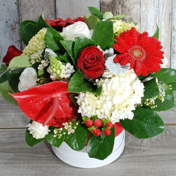 Cheery Red and White Arrangement