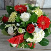 Cheery Red and White Arrangement2