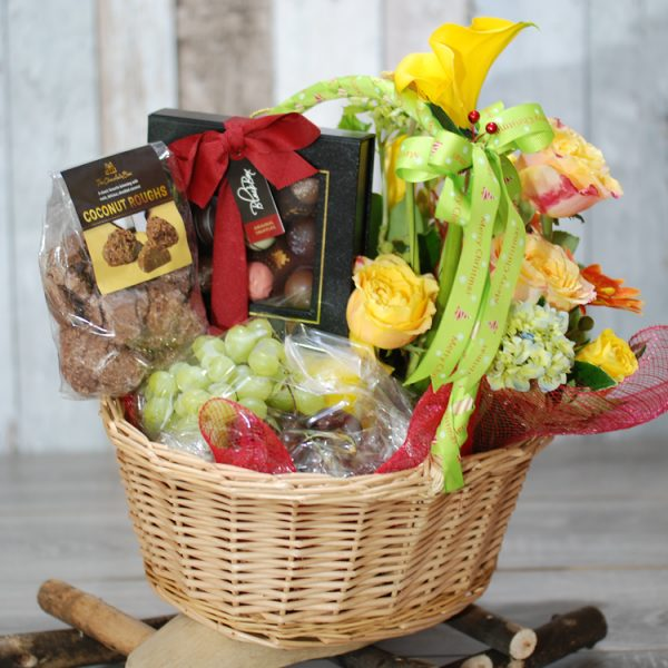 Christmas Hampers-  Glorious Christmas- Flowers and Fruits and Chocolate 2