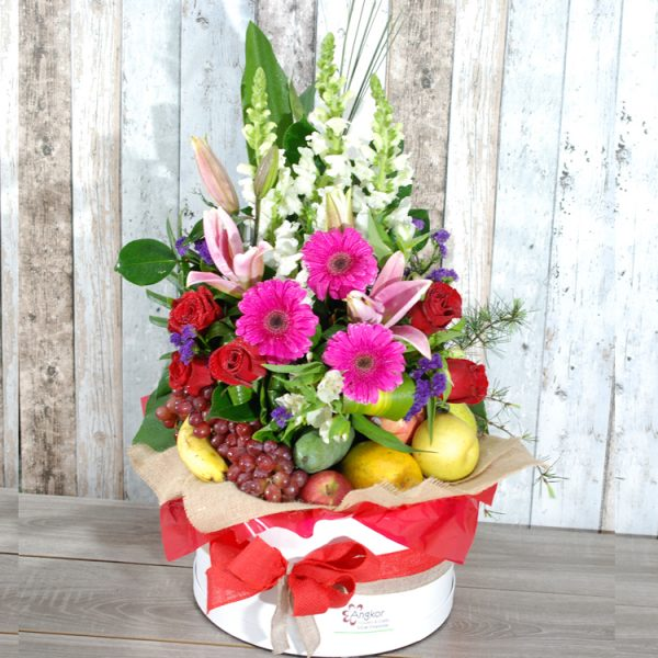 Elegant Fruits and Flowers Hampers