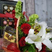 Gift Hamper- Christmas Basket- Chocolate and Flowers2