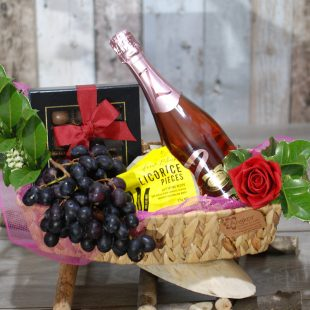 Gift Hamper- Lets Cheer Up- Chocolate- Wine and Fruits