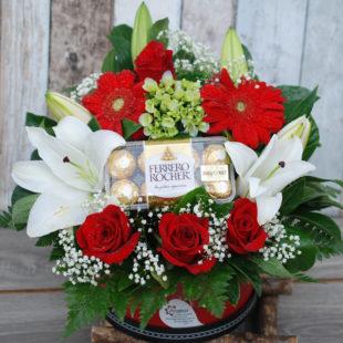 Christmas hatbox gift
