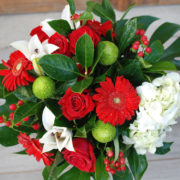 Merry red and white glass vase2